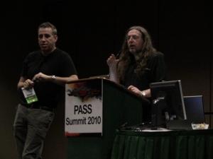 Амир Нетз (уважаемый инженер Microsoft) и Дональд Фармер (менеджер программ Microsoft BI)