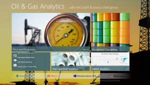 Главный экран демонстрационного примера анализа данных нефтегазовой отрасли с помощью Power View