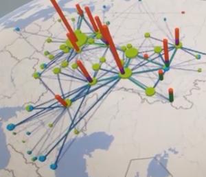 """Визуализация маршрутов в GeoFlow для Excel (на примере битумного рынка). Источник: Павел Аникеев, """"ОМТ-Консалт"""")"""