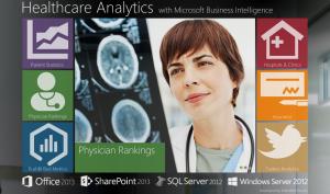 Внешний вид начальной страницы аналитического портала для сети клиник